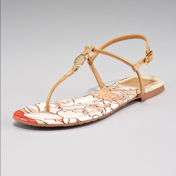 Tory Burch Shoes - Tory Burch Emmy Thong Sandals Size 7 Sand